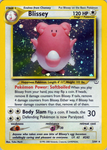 Blissey Prime 106//123 HGSS PSA 8 Near Mint Mint Holo Rare Pokemon Card