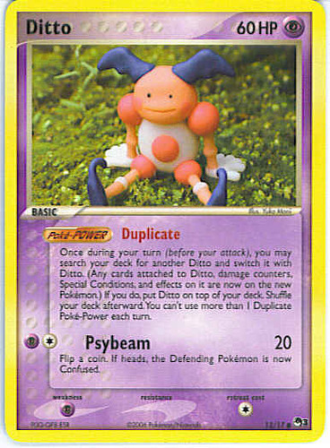 pokemon cards ditto