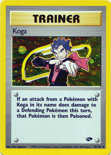 1X KOGA TRAINER 106//132 Gym Challenge NON-Holo Rare Pokemon CARD EXCELLENT