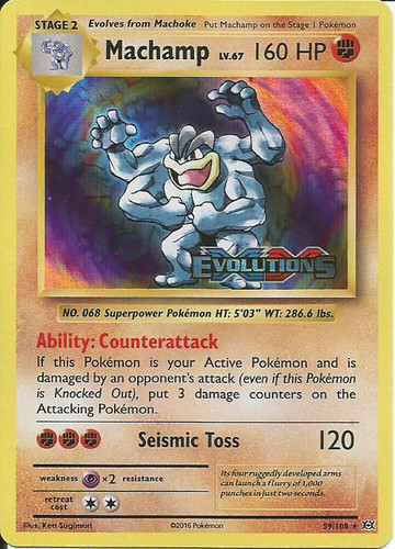 Machamp 8/102 holo 1st edition (with shadow) base set 1st.