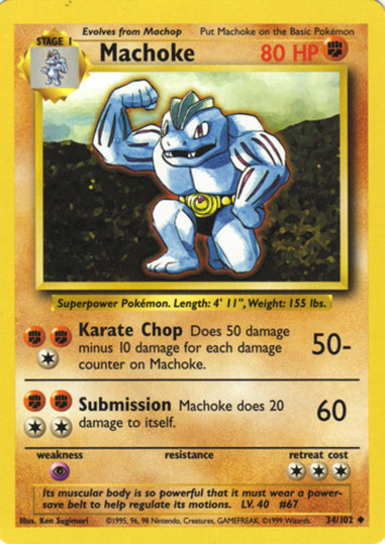 Sleeve 42//132 NM Giovanni's Machoke 1st Edition Gym Challenge Pokemon Card