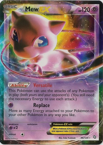 Mew 29//124 Fates Collide Light Play Holographic Pokemon Card