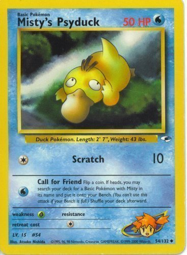 Sabrina/'s Psyduck 99//132 1ST EDITION Gym Challenge Set Pokemon Card EXCELLENT