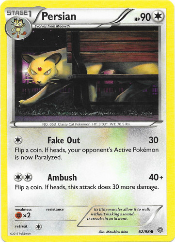 NM Persian 1st Edition 1999 Jungle Pokemon Card Sleeve /& Top Loader 42//64