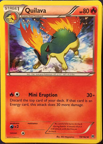 1 x MP Quilava Reverse Holo Expedition Base Set Pokemon TC 91//165 Uncommon