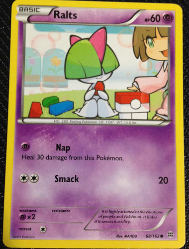 Ralts Reverse Holo Ancient Origins 52//98 NEAR MINT Pokemon TCG Card