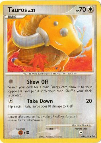 Blaines Tauros 64//132 LP Gym Heroes Pokemon Card $1 Combined Shipping