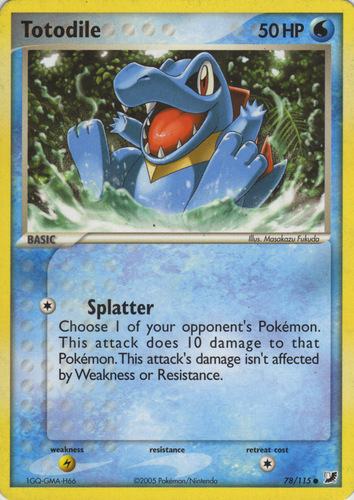 Totodile 86//123 CommonHeart Gold Soul SilverPokemon Card