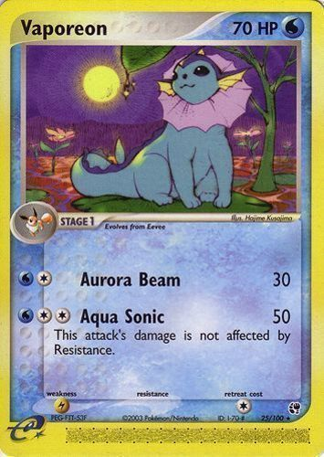 Original Vaporeon Card