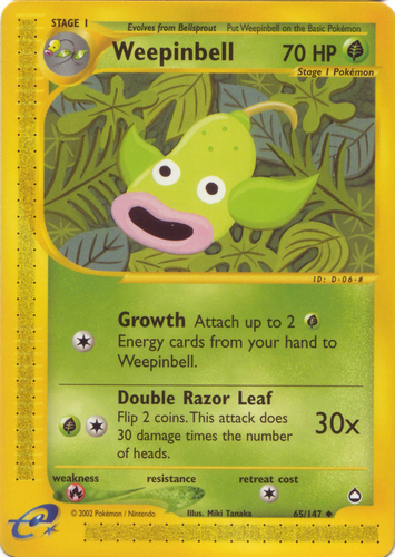 49//132 NEAR MINT Uncommon Unlimited Erika/'s Weepinbell